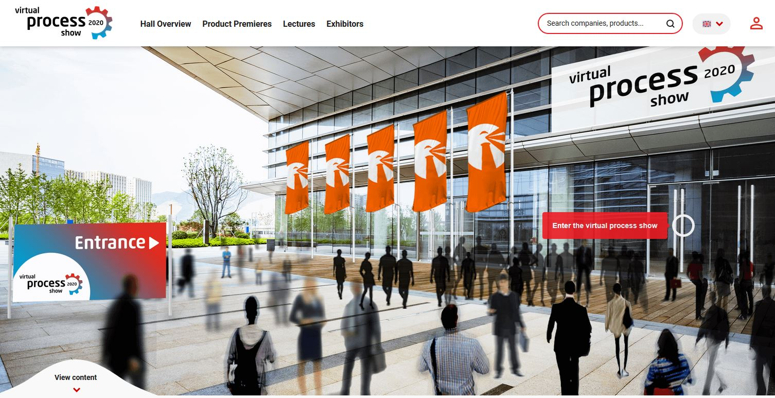 Entrance of the virtual process show