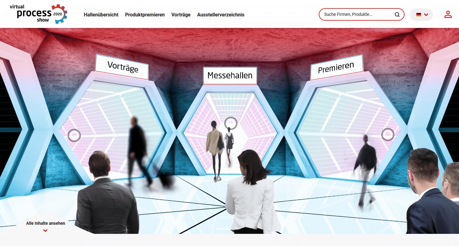 Die Lobby der virtual process show